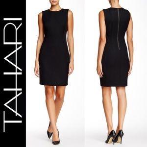Tahari M98tt604 Mila Tweed Leather Panel Dress 6